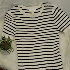 Forever 21 Striped cream and black sweater top